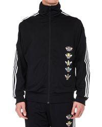 87051c2a0 adidas Originals Street Logo Crewneck Sweatshirt in Black for Men - Lyst