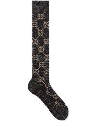 Gucci Black Cotton Socks