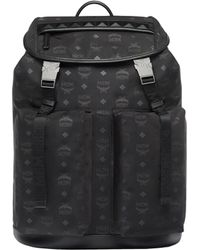 88cc64d4bec2 MCM Stark Classic Backpack In Monogram Nylon in Black for Men - Lyst