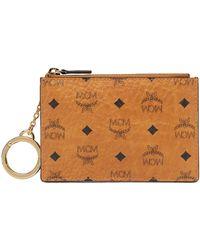MCM - Key Pouch In Visetos Original - Lyst