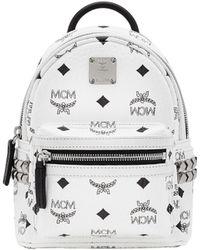 MCM - Stark Side Studs Bebe Boo Backpack In Visetos - Lyst