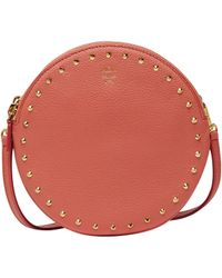 MCM - Double Tambourine Crossbody In Studded Outline - Lyst