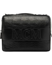 MCM - Cubism Briefcase In Foiled Leather - Lyst
