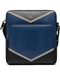 MCM | Ottomar Messenger In Chevron Leather | Lyst