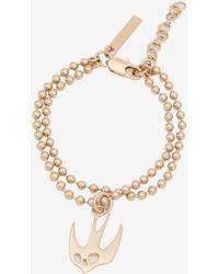 McQ - Ball Chain Swallow Bracelet - Lyst