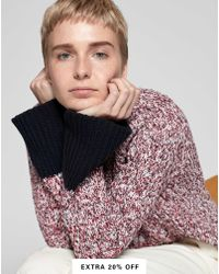 98dfe9e2f5ed Carven Tricolor Open Knit Sweater in Yellow - Lyst