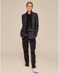 ME+EM - Wool Flannel Military Blazer - Lyst
