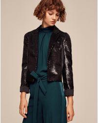 ME+EM - Sequin Crop Blazer - Lyst