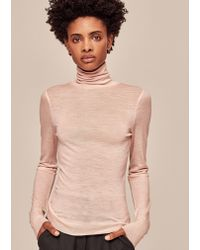 ME+EM - Superfine Knit Roll Neck Top - Lyst