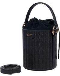 meli melo - Santina Mini | Bucket Bag | Black Woven - Lyst