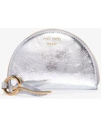 Meli Melo   Half Moon Wallet Silver   Lyst