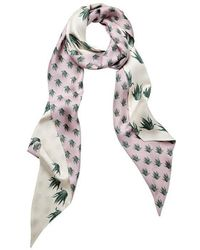 meli melo - Silk Scarf | Aloe Print - Lyst