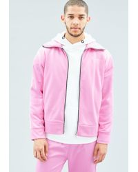 Mennace - Pink Tricot Knit Tracksuit Top - Lyst