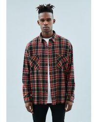 Mennace - Black Tartan Relaxed Shirt - Lyst