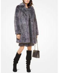 Michael Kors - Faux Fur Coat - Lyst