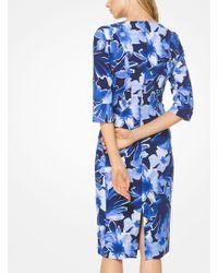 Michael Kors   Floral Stretch-cady Sheath Dress   Lyst