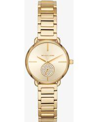 Michael Kors - Petite Portia Gold-tone Watch - Lyst