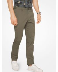 Michael Kors - Slim-fit Stretch-cotton Trousers - Lyst