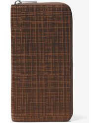 Michael Kors - Harrison Crosshatch Leather Zip-around Wallet - Lyst