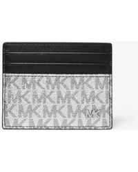 879c57d340f6 Michael Kors Jet Set Shadow Signature Tall Card Case in Black for ...