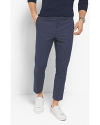 Michael Kors - Slim-fit Dot-print Cotton Trousers - Lyst