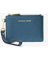 8c9d20e3ee8e7a Michael Kors - Michael Mercer Pebble Leather Coin Purse - Lyst