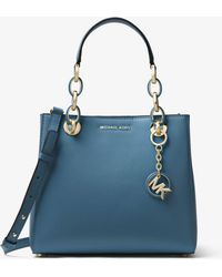 MICHAEL Michael Kors - Cynthia Small Leather Satchel - Lyst