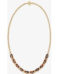 Michael Kors - Gold-tone Link Necklace - Lyst