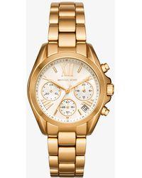 Michael Kors - Mini Bradshaw Gold-tone Watch - Lyst