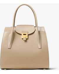 62eb531b909d00 Michael Kors - Bancroft Large Pebbled Calf Leather Satchel - Lyst