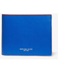 d96a59ed71ff Michael Kors - Harrison Color-block Leather Billfold Wallet With Passcase -  Lyst