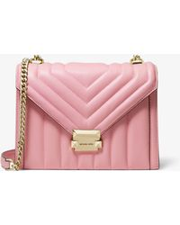 739b53d8e068 Michael Kors - Whitney Large Quilted Leather Convertible Shoulder Bag - Lyst