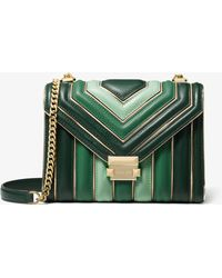 Michael Kors - Whitney Tri-colour Quilted Convertible Shoulder Bag - Lyst