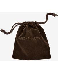 Michael Kors - Logo Gold-tone Stud Earrings - Lyst