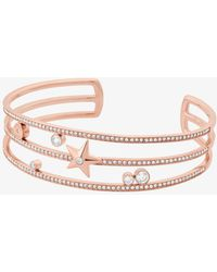 Michael Kors - Rose Gold-tone Celestial Cuff - Lyst