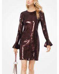 Michael Kors - Sequined Bell-cuff Dress - Lyst