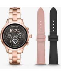 Michael Kors - Set smartwatch Runway tonalità oro rosa - Lyst