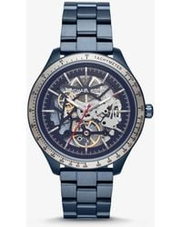 Michael Kors - Reloj Merrick en tono azul - Lyst