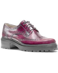 Michael Kors - Irwin Runway Burnished-leather Oxford - Lyst