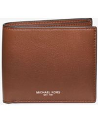 Michael Kors - Bryant Leather Billfold Wallet - Lyst