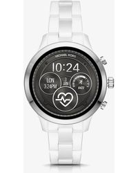 Michael Kors - Runway Silver-tone And Ceramic Smartwatch - Lyst