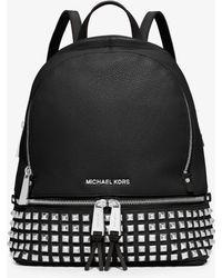 Michael Kors - Rhea Small Studded Leather Backpack - Lyst