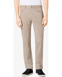Michael Kors - Tailored/classic-fit Stretch-twill Five-pocket Pants - Lyst