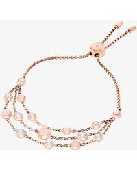 Michael Kors - Rose Gold-tone Multi-strand Bracelet - Lyst