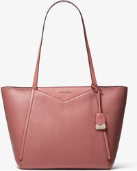 861d8639a338 Michael Kors - Whitney Large Pebbled Leather Tote - Lyst