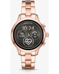Michael Kors - Runway Heart Rate Rose Gold-tone Smartwatch - Lyst
