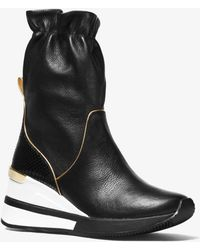Michael Kors - Randy Pebbled Leather High-top Trainer - Lyst