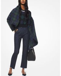 Michael Kors - Cotton And Leopard Calf Hair Cropped Jeans - Lyst