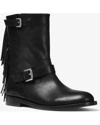 Michael Kors - Ingrid Fringed Leather Boot - Lyst