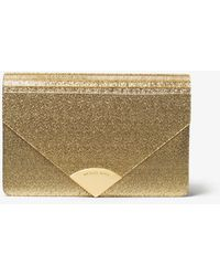 Michael Kors - Barbara Metallic Envelope Clutch - Lyst